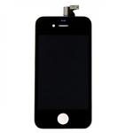 HQ Analogs LCD Displejs + SkarienjÅ«tÄ«gais ekrÄ?na elements priekÅ? iPhone 4S Pilns modulis A+ kvalitÄ?te Melns