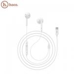 Hoco L10 Universālas In-Ear Mūzikas un Zvanu Type-C vada Austņas ar Mikrofonu un Pulti 1.2m Baltas