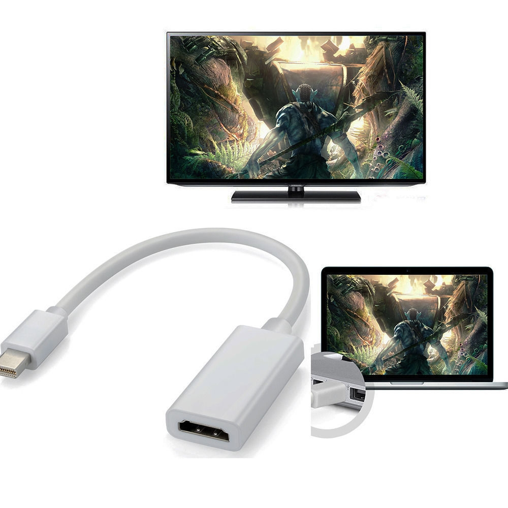 Apple Mini Display Port HDMI Thunderbolt Adapter Mini DP Cable MacBook Pro Air Full HD display 1080p (1920x1080) kabelis