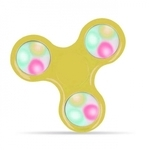 Blun Led elementu Roku Spinners Anti-Stresa Fidget aksesuārs no izturīga Eko Plastikāta ar 4 gaismas režīmiem Dzeltens