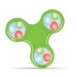 Blun Led elementu Roku Spinners Anti-Stresa Fidget aksesuārs no izturīga Eko Plastikāta ar 4 gaismas režīmiem Zaļš