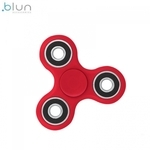 Blun Silent-Spin Roku Spinners Anti-Stresa Fidget aksesuārs no izturīga Eko Plastikāta Sarkans