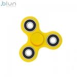 Blun Silent-Spin Roku Spinners Anti-Stresa Fidget aksesuārs no izturīga Eko Plastikāta Dzeltens