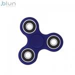 Blun Silent-Spin Roku Spinners Anti-Stresa Fidget aksesuārs no izturīga Eko Plastikāta Zils
