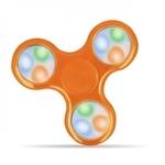 Blun Led elementu Roku Spinners Anti-Stresa Fidget aksesuārs no izturīga Eko Plastikāta ar 4 gaismas režīmiem Oranžs