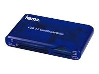 Hama 35in1 USB2.0 Multi Card Reader blue