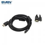 Sven HDMI Spraudnis 19M uz Micro HDMI D-Male 19M-19M Universāls Vads 1m Melns