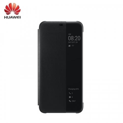 Huawei Mate 20 Lite Oriģināls super plāns Smart view sāniski atverams maks Melns