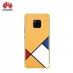 Huawei Mate 20 Pro Oriģināls super plāns Abstract Art aizmugures maks-apvalks Dzeltens