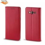 Takeme Magnēstikas Fiksācijas Sāniski atverams maks bez klipša Samsung Galaxy A80 (A805F) Sarkans