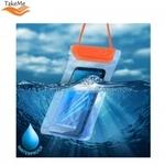 Takeme Universāls ūdensizturīgs maks ar siksniņu (10.5x18cm) mob. iekārtām līdz 6 collām Oranžs