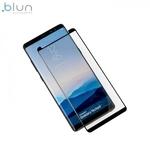 Blun 3D Ekstra līpīgs pilnas virsmas līmējāms 0.3mm rūdīts aizsargstikls no iekārtas malas līdz malai priekš Samsung N950F Galaxy Note 8 Full Face Melns