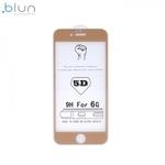 Blun 3D Ekstra līpīgs pilnas virsmas līmējāms 0.3mm rūdīts aizsargstikls no iekārtas malas līdz malai priekš Apple iPhone 6 / 6S (4.7inch) Full Face Zeltains