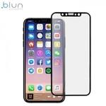 Blun 3D Ekstra līpīgs pilnas virsmas līmējāms 0.3mm rūdīts aizsargstikls no iekārtas malas līdz malai priekš Apple iPhone X / iPhone 10 Full Face Melns
