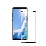 Blun 3D Ekstra līpīgs pilnas virsmas līmējāms 0.3mm rūdīts aizsargstikls no iekārtas malas līdz malai priekš Samsung N960F Galaxy Note 9 Full Face Melns (netraucē maciņam)