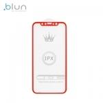 Blun 3D Ekstra līpīgs pilnas virsmas līmējāms 0.3mm rūdīts aizsargstikls no iekārtas malas līdz malai priekš Apple iPhone X / XS Full Face Sarkans