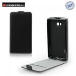 Forcell Flexi Slim Flip HTC Desire 210 vertikāli atverams silikona ietvarā Melns