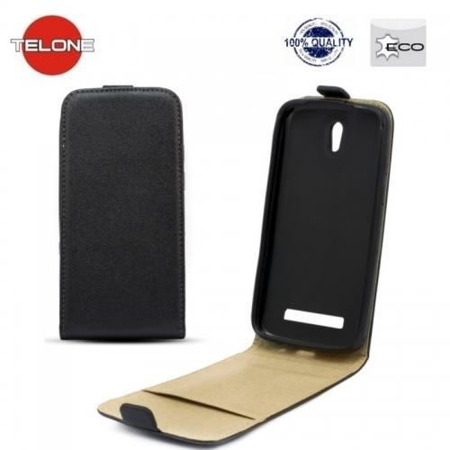 Telone Shine Pocket Slim Flip Case Huawei Mate 8 telefona maks vertikāli atverams Melns
