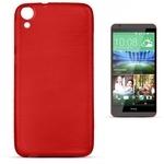 Forcell Jelly Brush Perlamutra telefona silikona apvalks HTC Desire 820 Sarkans