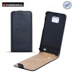 Forcell Slim Flip Case HTC Desire 200 telefona maks vertikāli atverams Melns