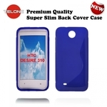 Telone Back Case S-Case gumijots telefona apvalks HTC Desire 310 Zils