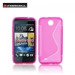 Forcell Back Case S-Line HTC Desire 300 gumijas /plastikāta telefona apvalks Rozā