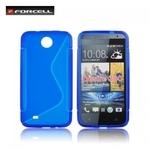 Forcell Back Case S-Line HTC Desire 300 gumijas /plastikāta telefona apvalks Zils