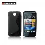 Forcell Back Case S-Line HTC Desire 300 gumijas /plastikāta telefona apvalks Melns