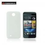 Forcell Back Case S-Line HTC Desire 300 gumijas /plastikāta telefona apvalks Balts
