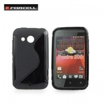 Forcell Back Case S-Line HTC Desire 200 gumijas /plastikāta telefona apvalks Melns