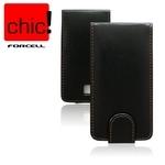 Forcell Vertical Case Sony Ericsson U100i Yari telefona maks vertikāli atverams Melns