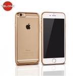Telone Super PlÄ?ns CaurspÄ«dÄ«gs Silikona Aizmugures Apvalks Apple iPhone 7 Plus 5.5inch ar Zelta krÄ?sas rÄ?mÄ«ti