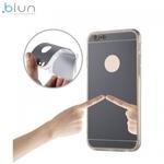 Blun super plāns silikona aizmugures apvalks ar caurspīdīgām malām un Spoguļveida aizmugurejo daļu priekš Apple iPhone 7 (4.7inch) Pelēks