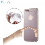 Blun super plÄ?ns silikona aizmugures apvalks ar caurspÄ«dÄ«gÄ?m malÄ?m un Spoguļveida aizmugurejo daļu priekÅ? Samsung G950 Galaxy S8 RozÄ?