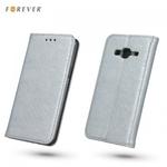 """Forever MagnÄ""""stikas FiksÄ?cijas SÄ?niski atverams maks ar spÄ«dumiem bez klipÅ?a priekÅ? Huawei P8 Lite Sudrabains"""