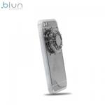 """Blun Super plÄ?ns spoguļvirsmas silikona aizsargvÄ?ciņÅ? ar iebÅ«vÄ""""tu Spineri priekÅ? Huawei P9 Lite Sudrabains"""