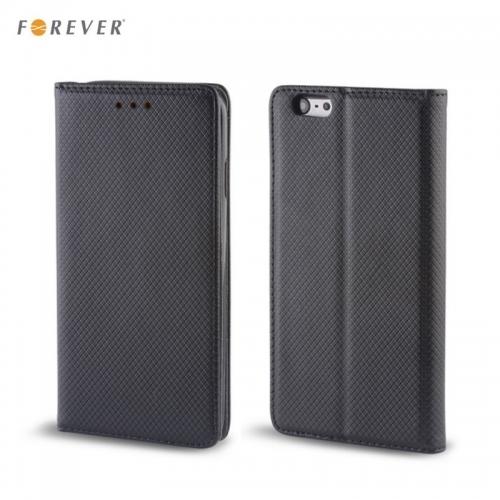 Forever Magnēstikas Fiksācijas Sāniski atverams maks bez klipša Huawei Mate 10 Lite / Nova 2i / G10 Melns