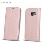 Forever Carbon Magnēstikas Fiksācijas Sāniski atverams maks bez klipša Huawei Mate 10 Lite / Nova 2i / G10 Rozā