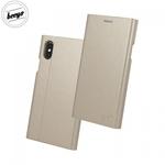 Beeyo Grande Premium Eko Ādas Sāniski atverams maks ar Smart Stendu priekš Huawei P10 Lite Zeltains
