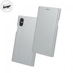 Beeyo Grande Premium Eko Ādas Sāniski atverams maks ar Smart Stendu priekš Huawei Mate 10 Lite / Nova 2i / G10 Sudrabains