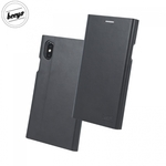 Beeyo Grande Premium Eko Ādas Sāniski atverams maks ar Smart Stendu Huawei Mate 10 Lite / Nova 2i / G10 Melns