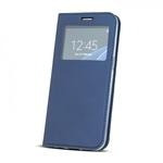 Blun Premium matēts eko ādas Magnētiskas Fiksācijas Sāniski atverams maks ar lodziņu un stendu Huawei Mate 10 Lite / Nova 2i / G10 Tumši zils