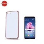 Telone Super PlÄ?ns CaurspÄ«dÄ«gs Silikona Aizmugures Apvalks Huawei P Smart / Enjoy 7S ar RozÄ«gi zeltaino krÄ?sas rÄ?mÄ«ti