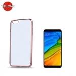Telone Super PlÄ?ns CaurspÄ«dÄ«gs Silikona Aizmugures Apvalks Xiaomi Redmi 5 ar RozÄ«gi zeltaino krÄ?sas rÄ?mÄ«ti