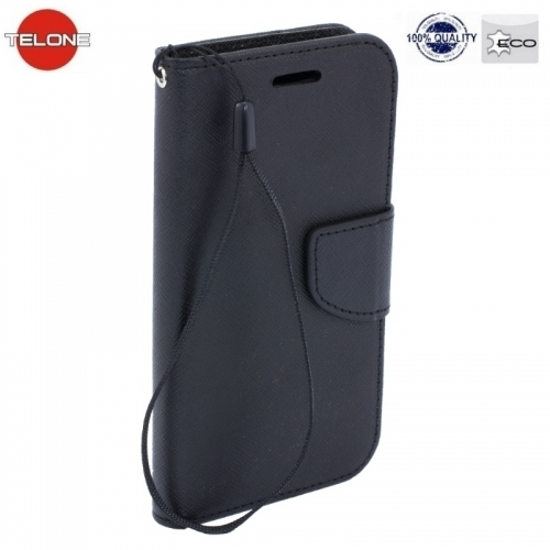 Telone Fancy Diary Book Case ar stendu Huawei Mate 10 Lite / Nova 2i / G10 sÄ?niski atverams Melns