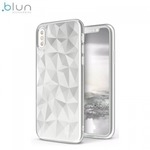 Blun 3D Prism Formas Super PlÄ?ns silikona aizmugures maks-apvalks priekÅ? Apple iPhone X / iPhone 10 Balts