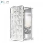 Blun 3D Prism Formas Super PlÄ?ns silikona aizmugures maks-apvalks priekÅ? Huawei P Smart / Enjoy 7S Balts