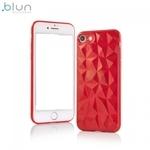 Blun 3D Prism Formas Super PlÄ?ns silikona aizmugures maks-apvalks priekÅ? Apple iPhone 7 / 8 (4.7inch) Sarkans
