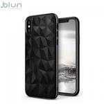 Blun 3D Prism Formas Super Plāns silikona aizmugures maks-apvalks priekš Apple iPhone XR Melns