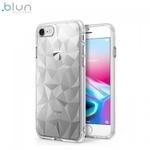 Blun 3D Prism Formas Super Plāns silikona aizmugures maks-apvalks priekš Apple iPhone XR Caurspīdīgs